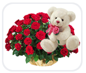 12 Red Roses with a Teddy