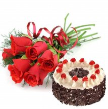 � Kg Cake and Red Roses